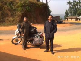 Mr.Sunmith and Mr. Monu on the way to Givemegre Church for Ministry.